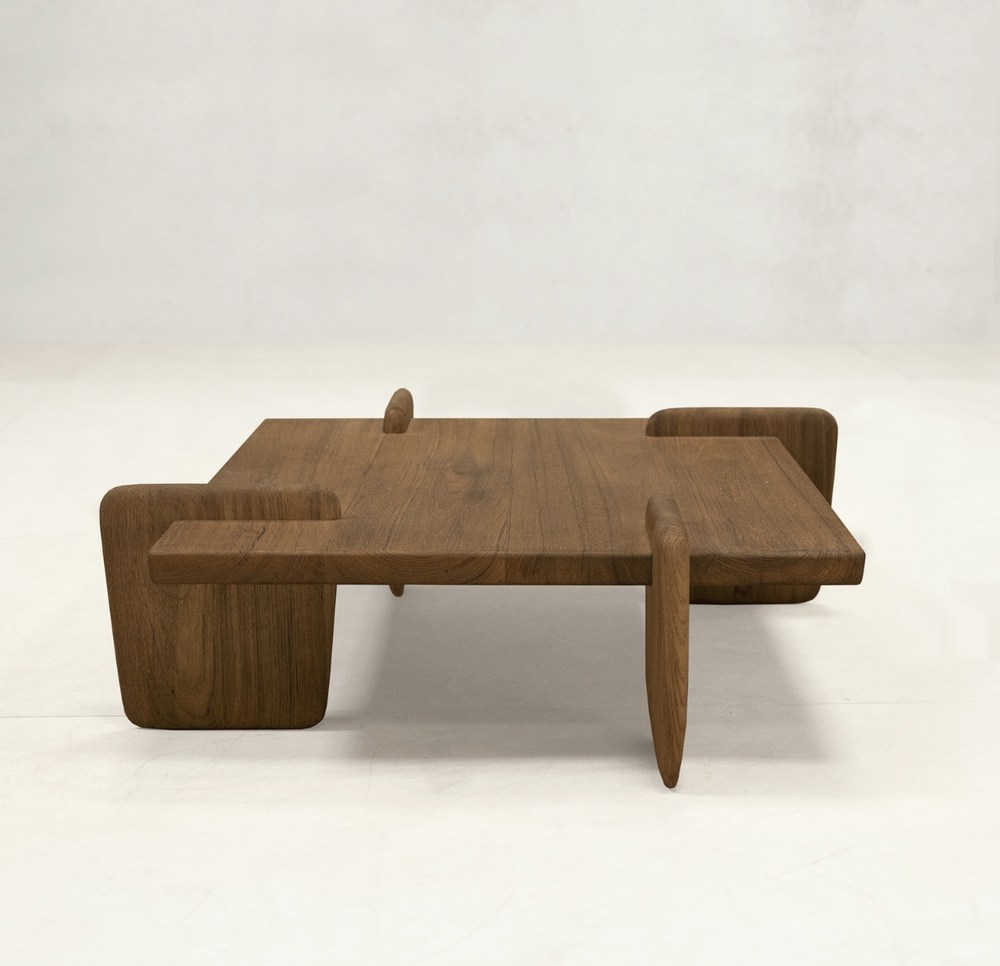Image of X+L coffee table 01 in natural teak