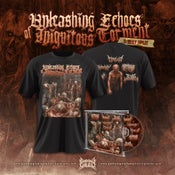 Image of UNLEASHING ECHOES OF... CD + T-SHIRT MODEL 1