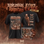 Image of UNLEASHING ECHOES OF---CD +T-SHIRT MODEL 2