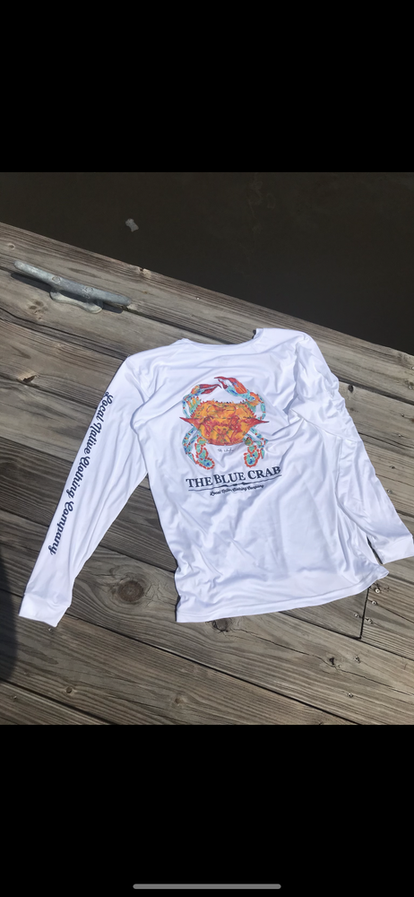Image of Blue Crab UPF 50+ Long Sleeve Sun Shirt