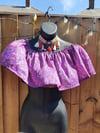 Crop gypsy top purple