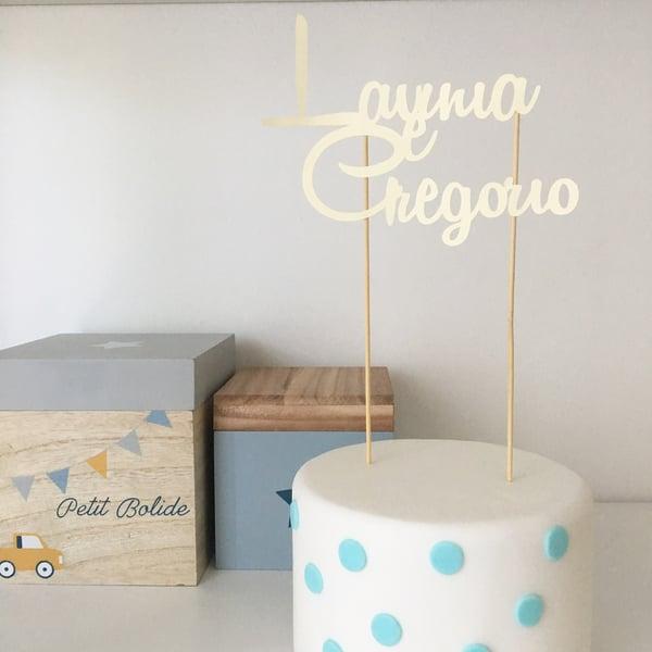 Image of Decorazione in carta per torta - cake topper