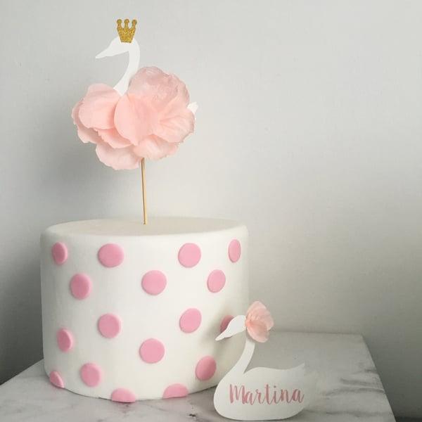 Image of Decorazioni di carta per torta - cake topper personalizzabili