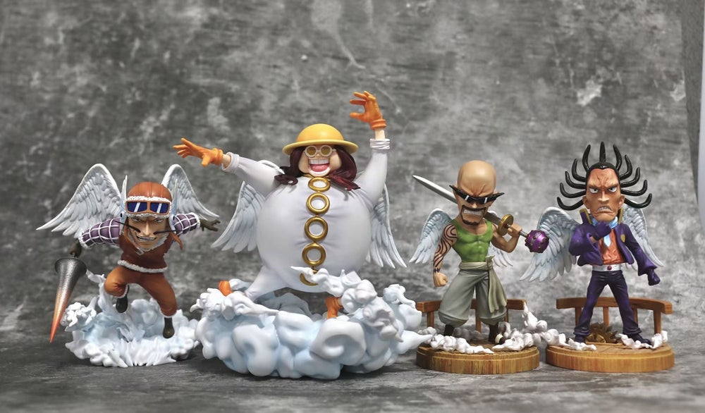 Image of [In-Stock]One Piece G5 Studio Skypiea Four God Officer Set Resin Statue