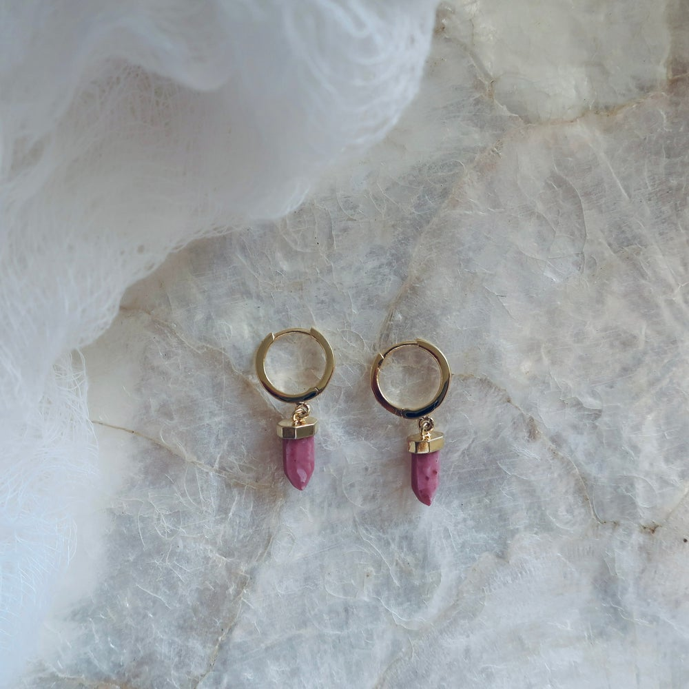 Image of Wanderer Earrings in Rosewood