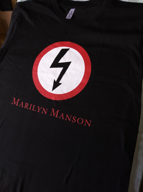 Marilyn Manson Lightning Bolt Logo T-Shirt