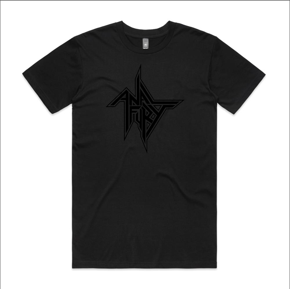 Image of ANAL FURY UNISEX TEE (Black on Black)
