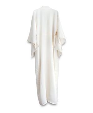 Image of Silkekimono - af  kraftig råhvid silke