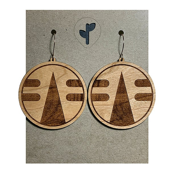 Image of chimalli IV / earrings / cherry