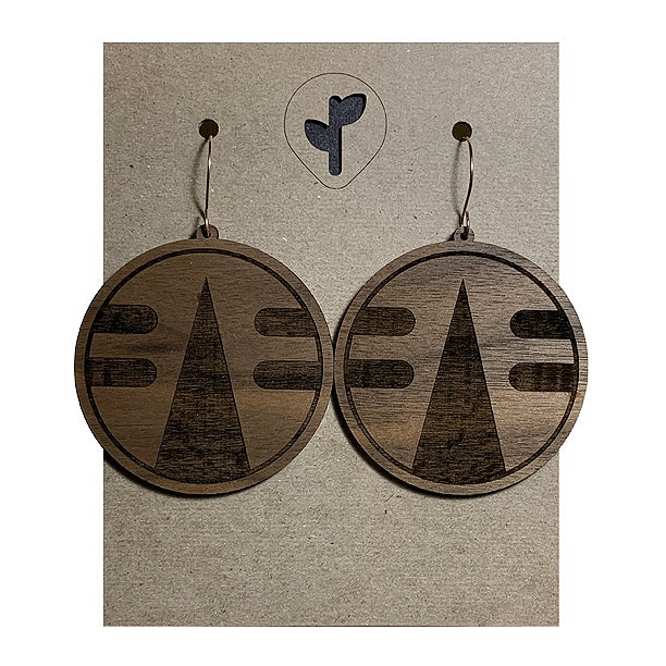 Image of chimalli IV / earrings / walnut