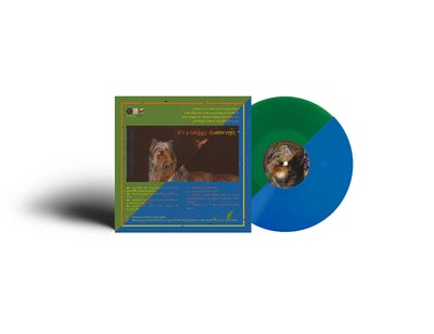 Image of {PRE-ORDER} - DOUBLE EP vinyl 'it's a (doggy dog) world' & '(live in antwerp)' (blue or green)
