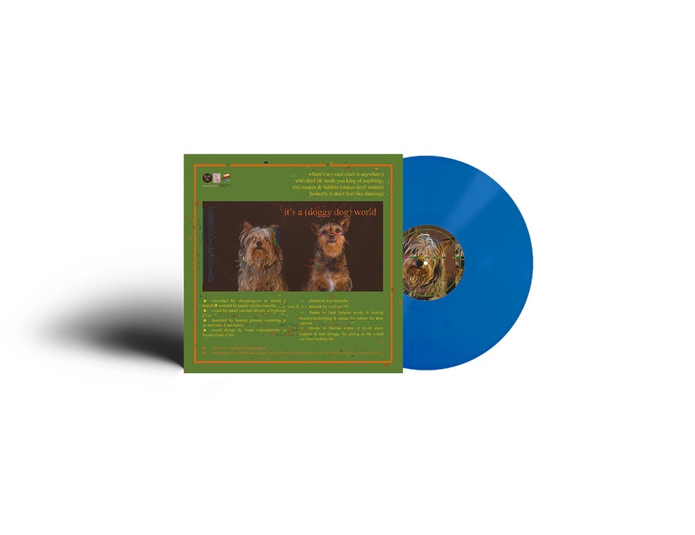 Image of DOUBLE EP vinyl 'it's a (doggy dog) world' & '(live in antwerp)' (blue or green)