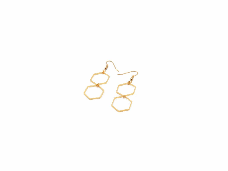 Image of Earrings Hexagon