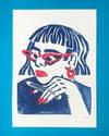 Lino print: Illustrator