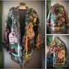 English Tea Garden custom made fringe tapestry jacket