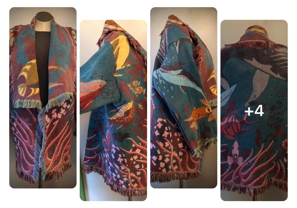 Oceania custom made fringe tapestry jacket