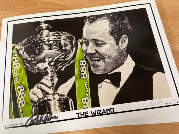 Image of JOHN HIGGINS SNOOKER (SIGNED)