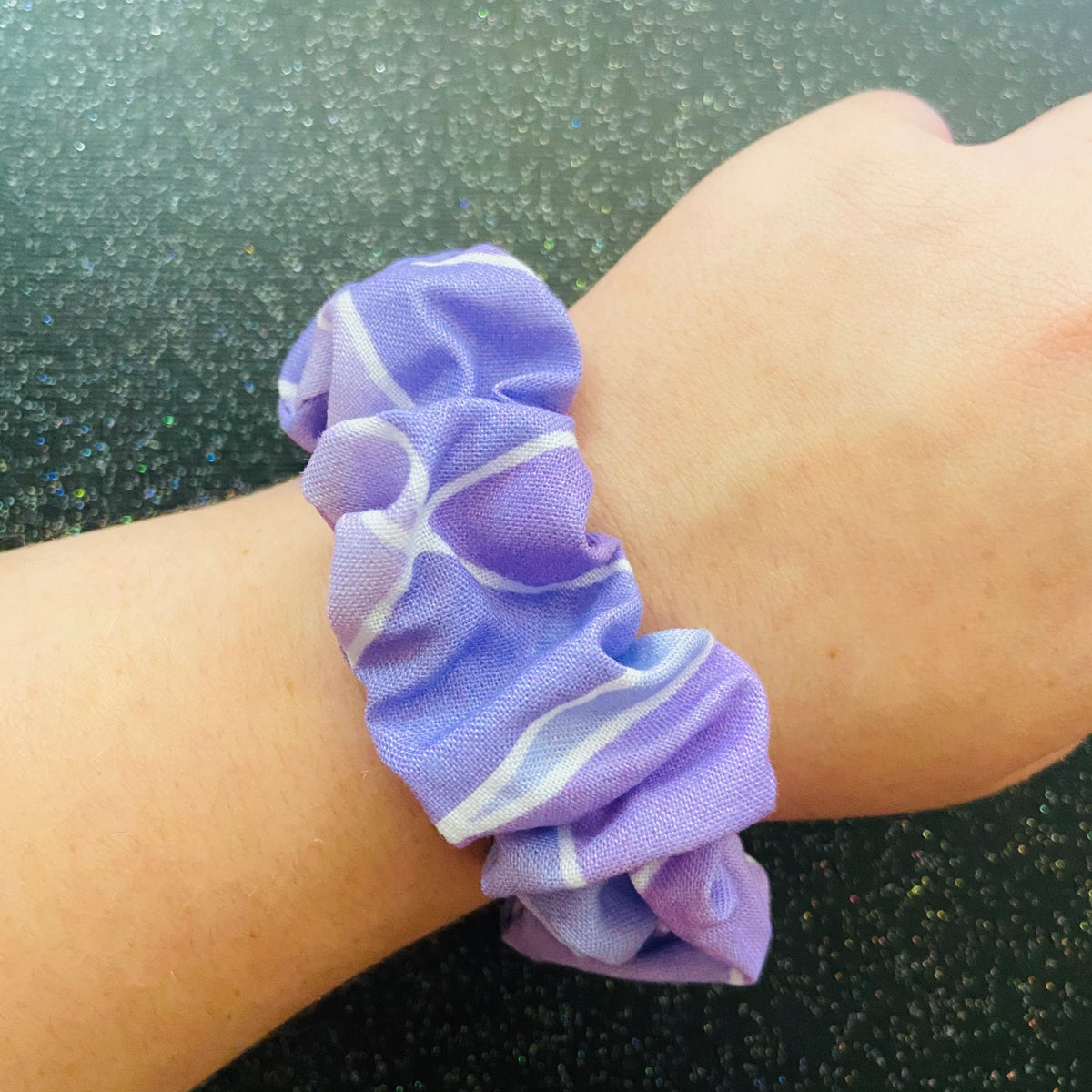 Image of Galactic Purple Wall Scrunchie