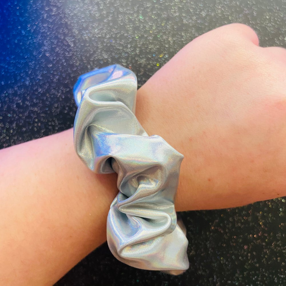 Image of Space Babe Silver Scrunchie