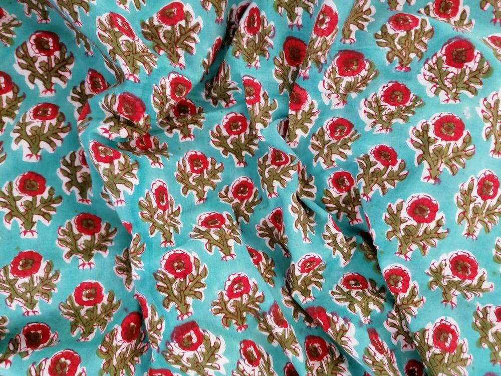 Image of Namasté fabric turquoise