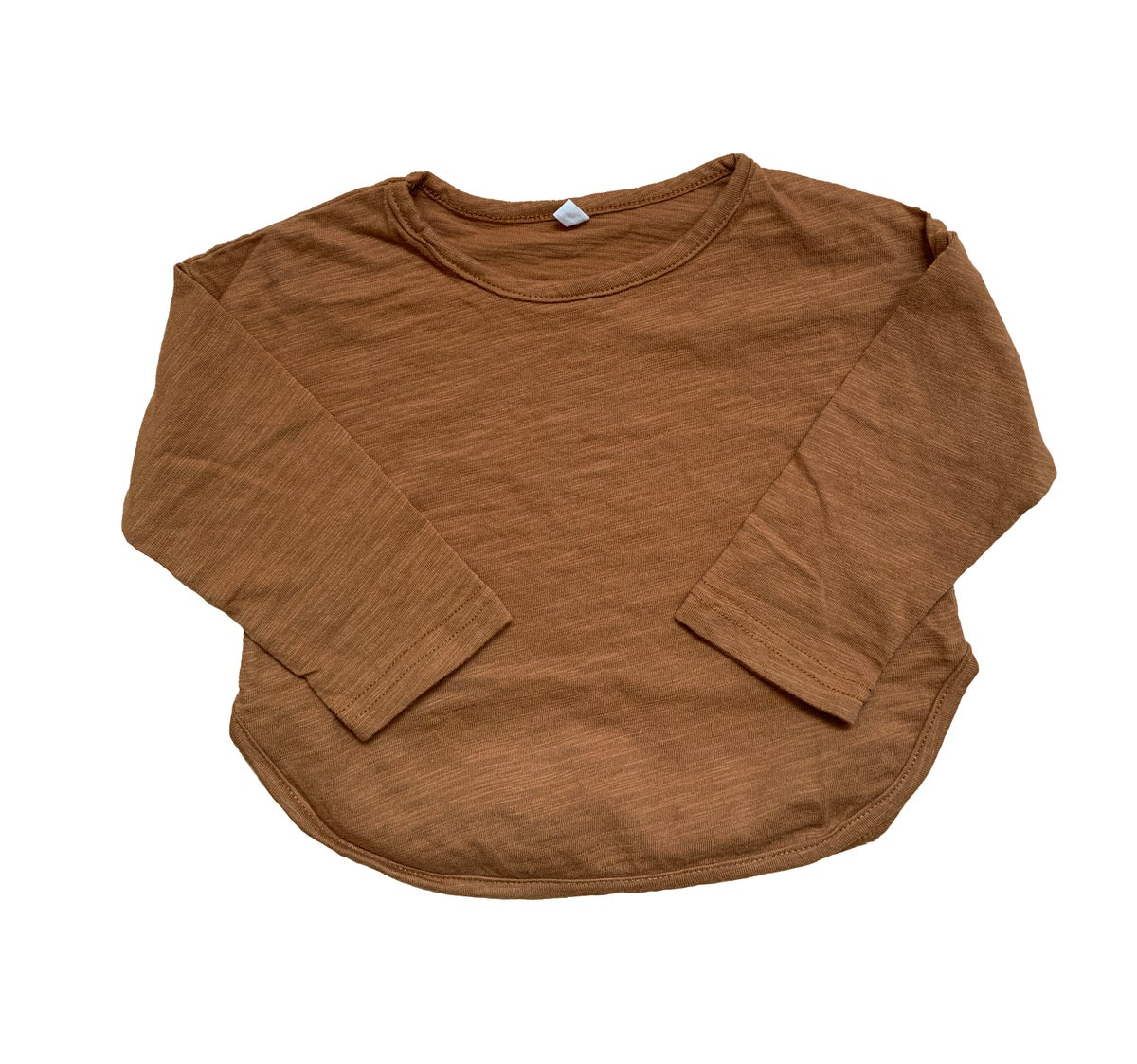 Image of Bamboo cotton T-shirt brown
