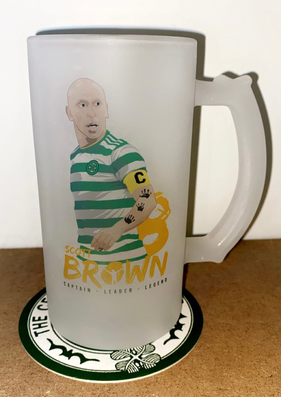 The Broony Frosted Glass Stein