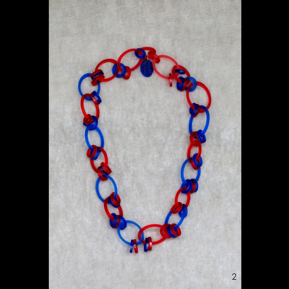 Image of one-off lasered acrylic necklaces xl