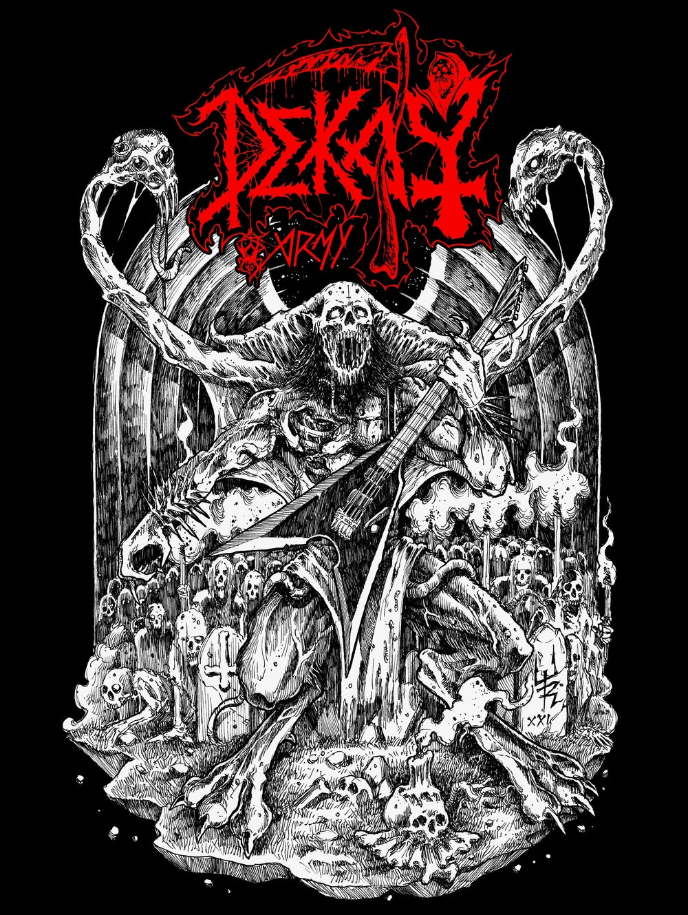 TODERICO x DEKAY DEATH METAL BACKPATCH