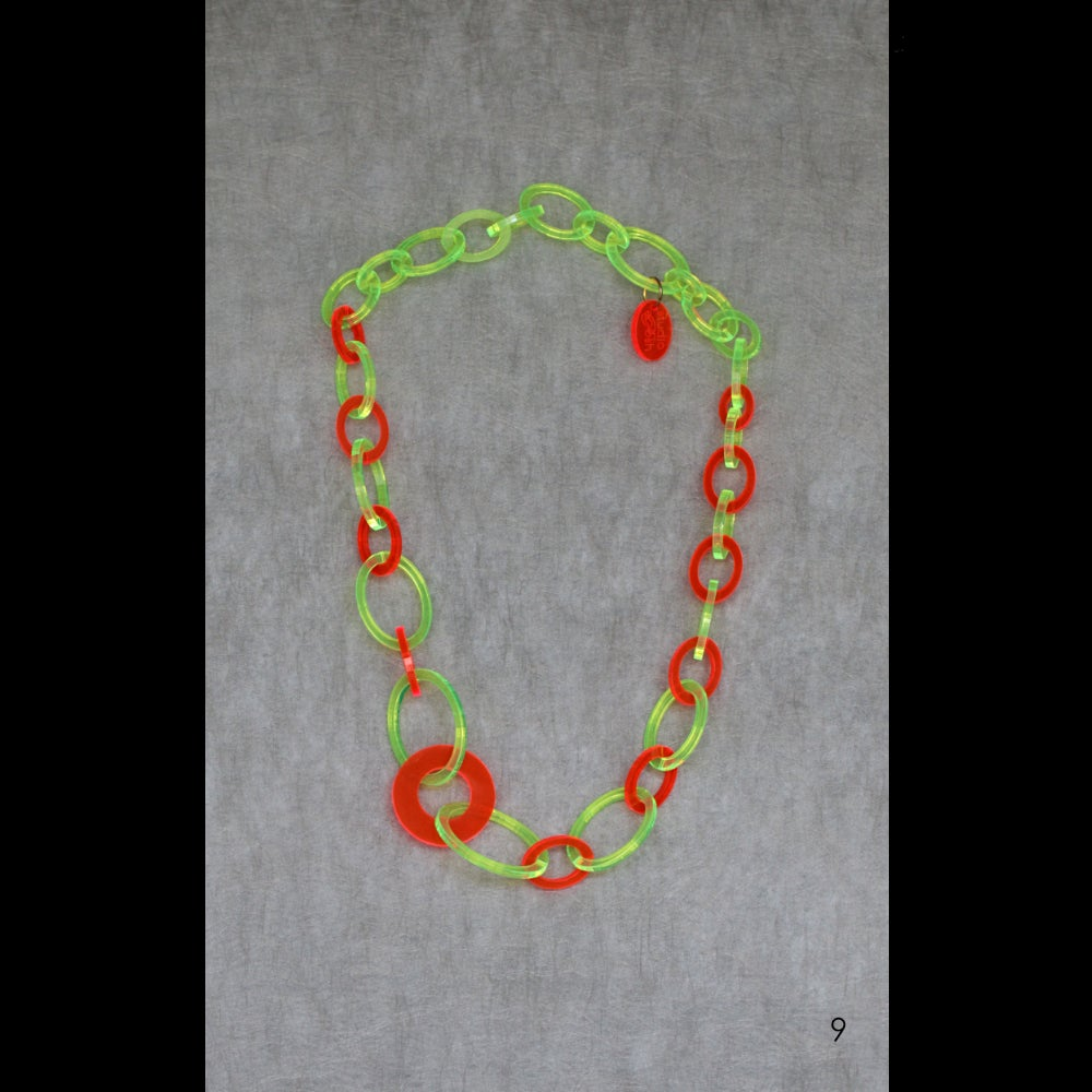 Image of One-off lasered acrylic necklaces M