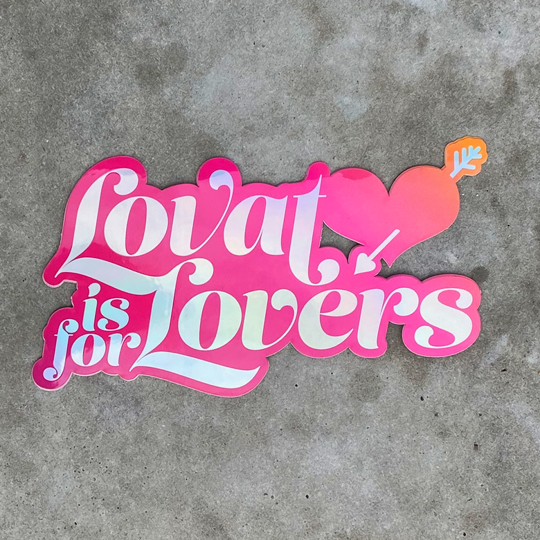 "Image of ""Lovat is for Lovers"" Die-Cut Sticker"