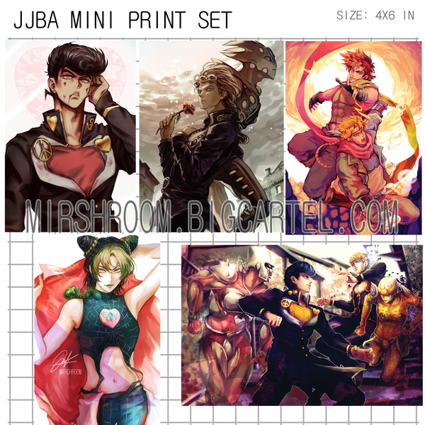 Image of JJBA Mini Print Set