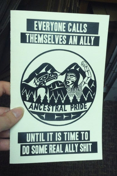 Image of Everyone Calls Themselves an Ally by Xhopakelxhit  (Microcosm Pub.)