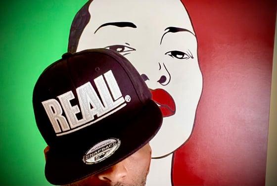 Image of REAL GLOW Black SnapBack Hat