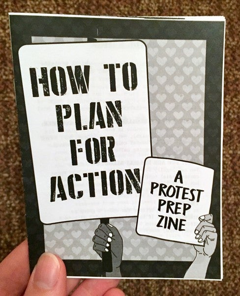 Image of How to Plan for Action: A Protest Prep Zine by Sarah Friedman (Microcosm Pub.)