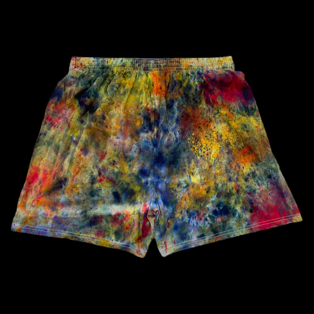 Custom Hand Dyed Champion Shorts! Rainbow!!
