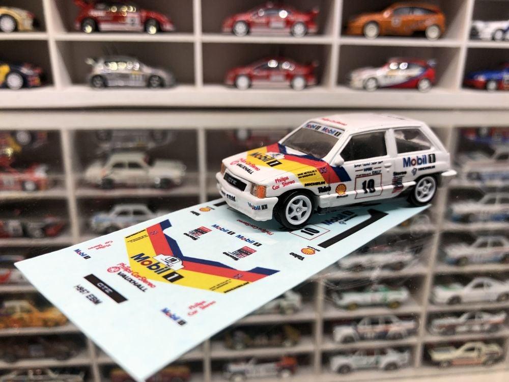 DECALS Vauxhall Nova - Dave Metcalfe & Ian Grindrod - 1990 Manx Rally