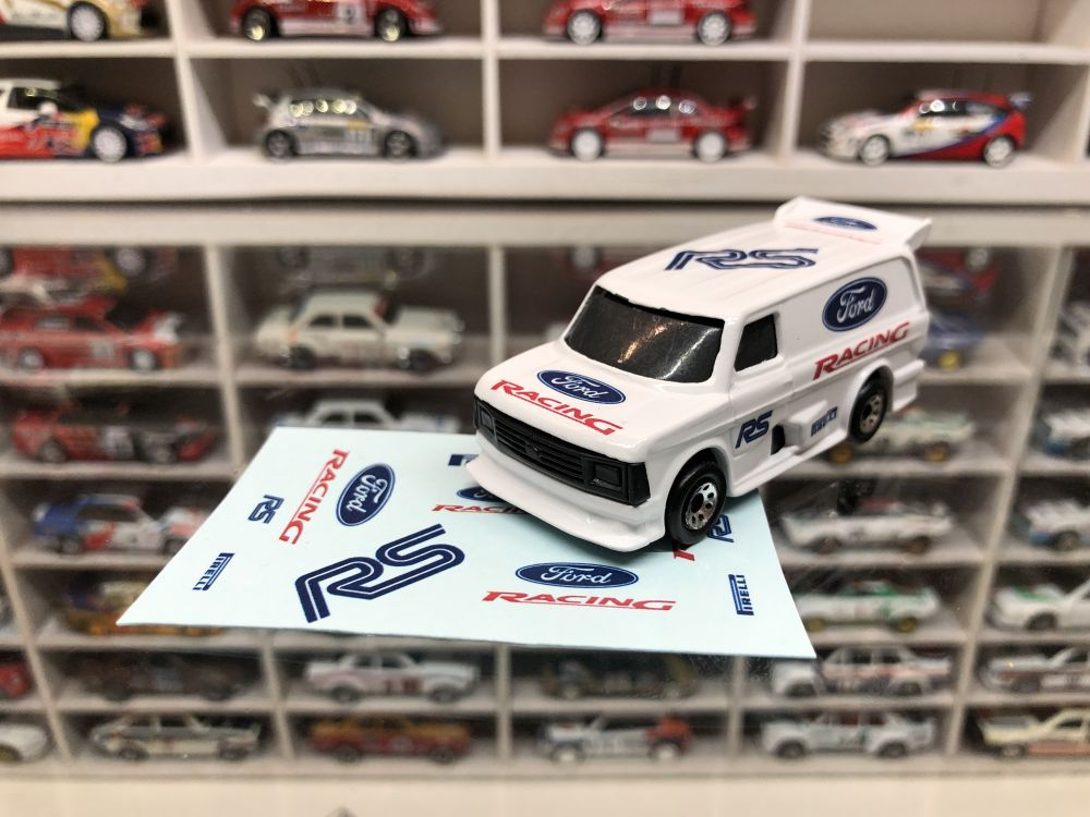 DECALS Matchbox Ford Supervan - Ford Racing Style