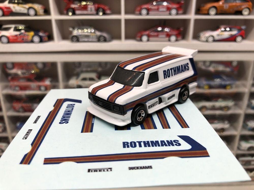 DECALS Matchbox Supervan - Rothmans Style
