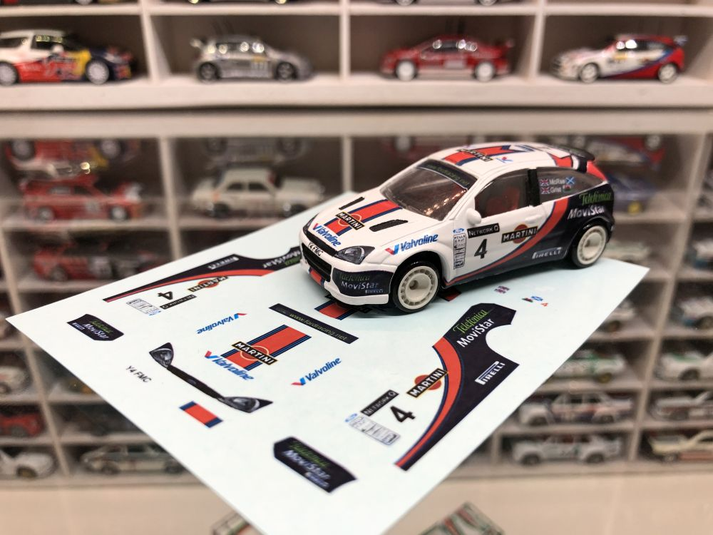 DECALS Ford Focus WRC 2001 Rally GB Colin McRae & Nicky Grist
