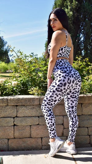 Image of CHEETAH PRINT SET  WHITE / BLACK