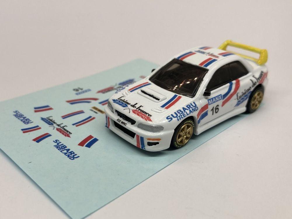 DECALS Subaru Impreza WRC - Andrew Nesbitt - Manx Rally 2002