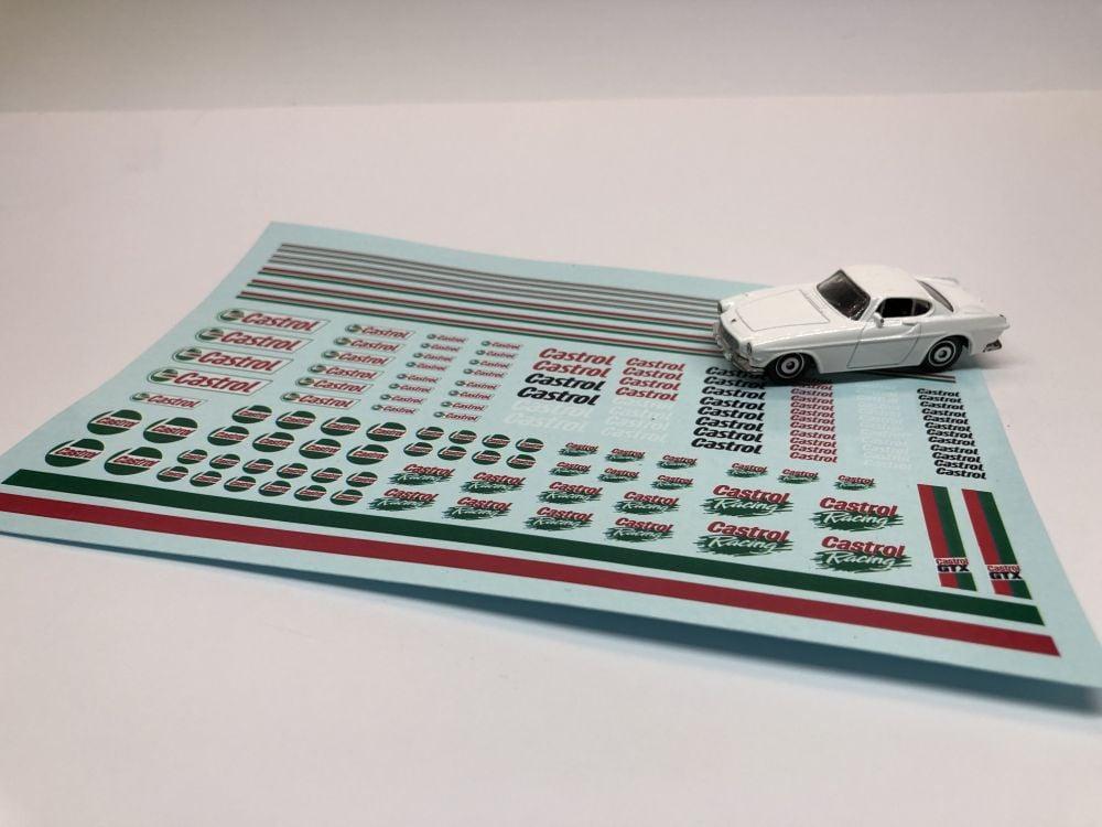 DECALS Huge Castrol Racing Decal Sheet