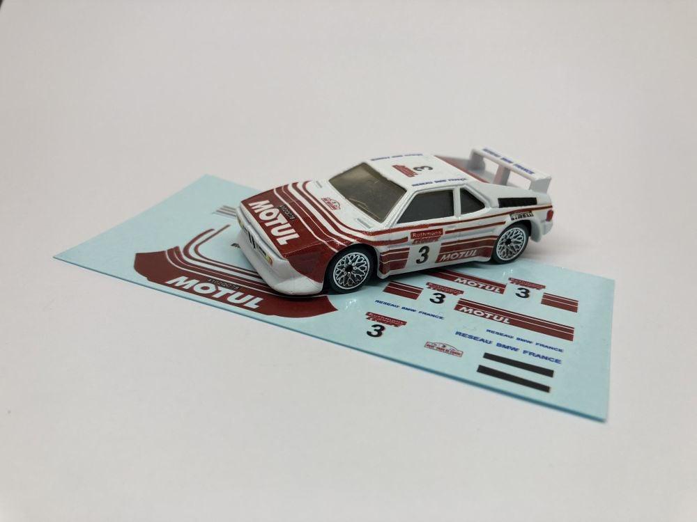 DECALS BMW M1 - Motul Rally style