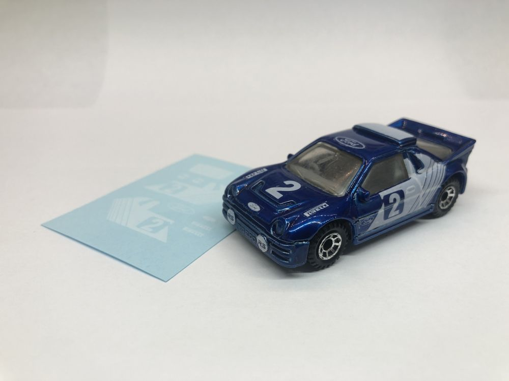 DECALS Matchbox RS200 Replacement White decals