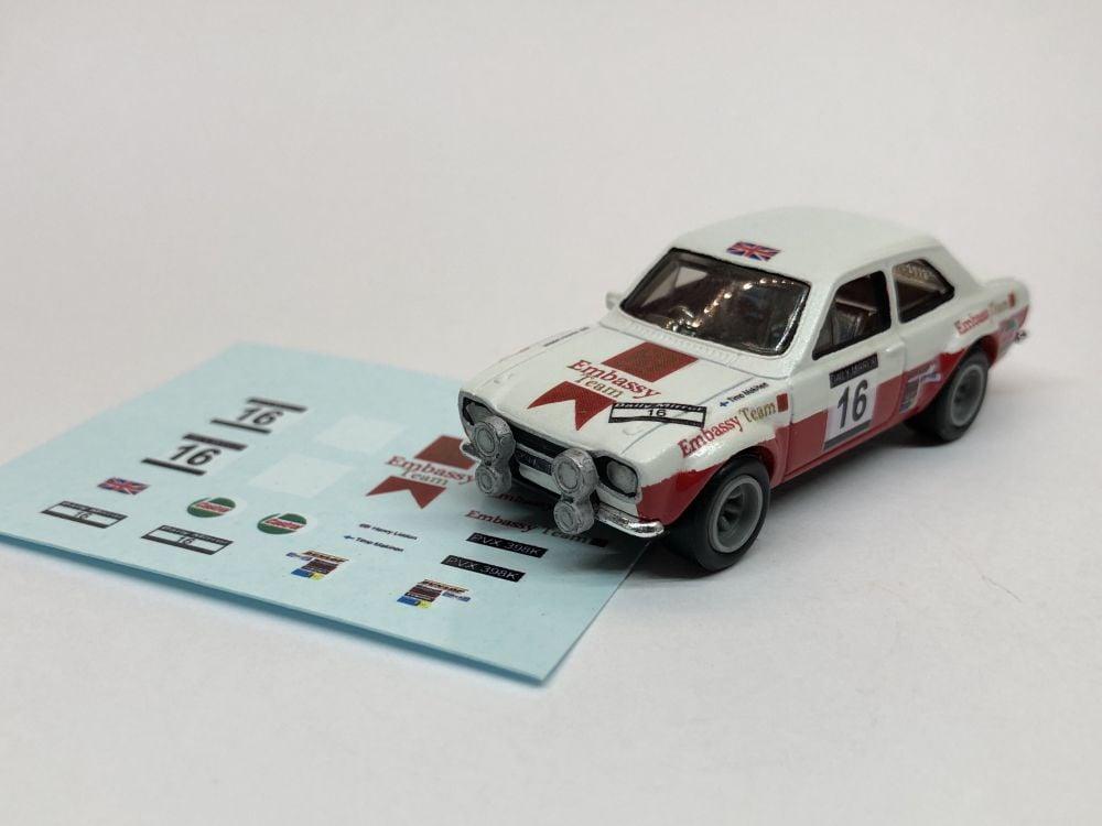 DECALS Ford Escort MK1 - Timo Makinen & Henry Lidden RAC Rally 1971