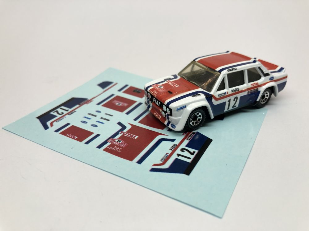 DECALS Fiat 131 - 1979 Rally Monte Carlo Michelle Mouton