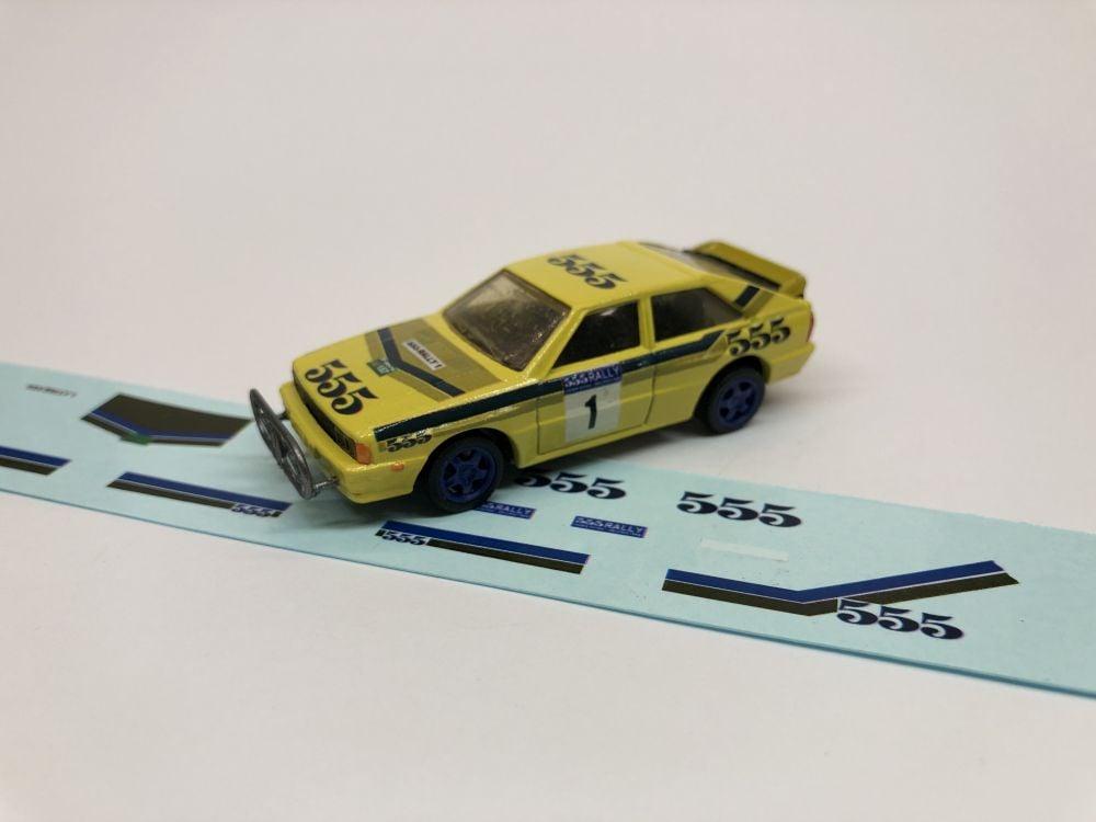 DECALS Audi Quattro - Beijing to China Rally - Stig Blomqvist