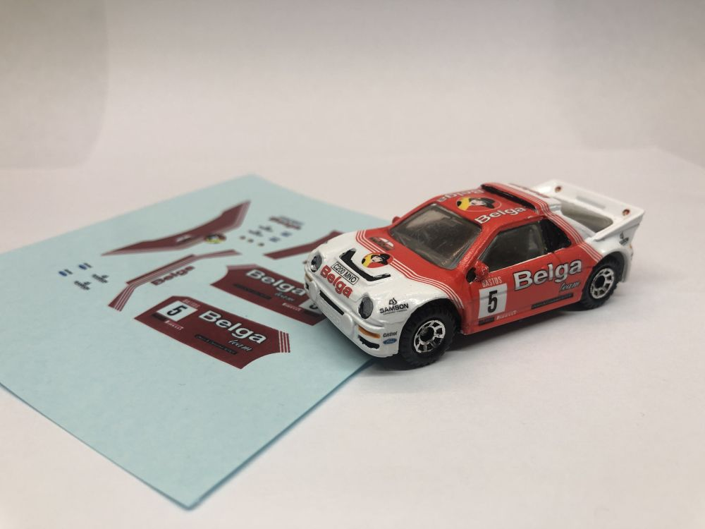 DECALS Ford RS200 Belga Rally Team