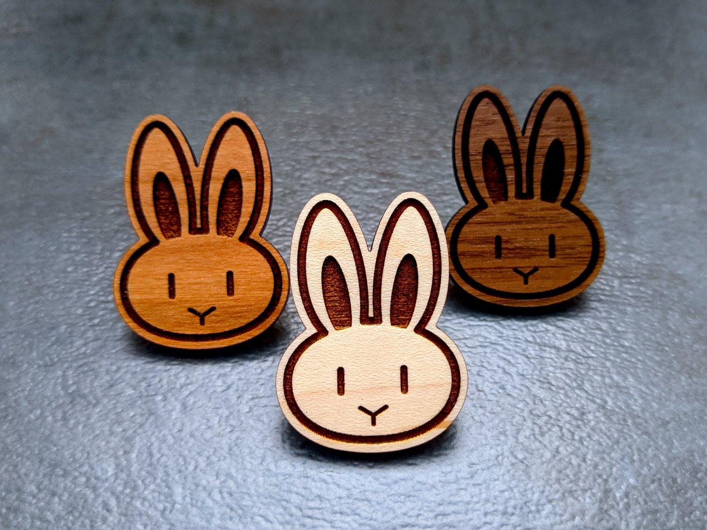 Mini Rabbit Wooden Pins