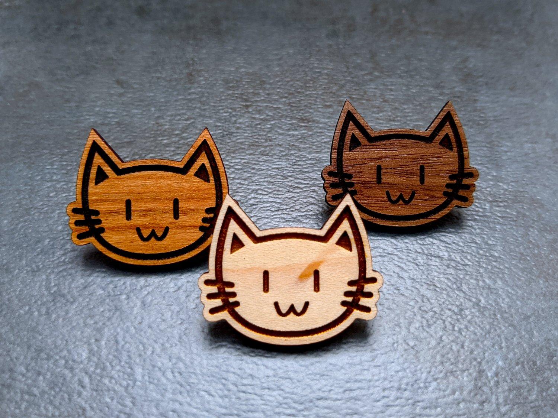 Mini Kitty Wooden Pins